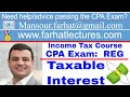 Taxable interest income cpa exam regulation