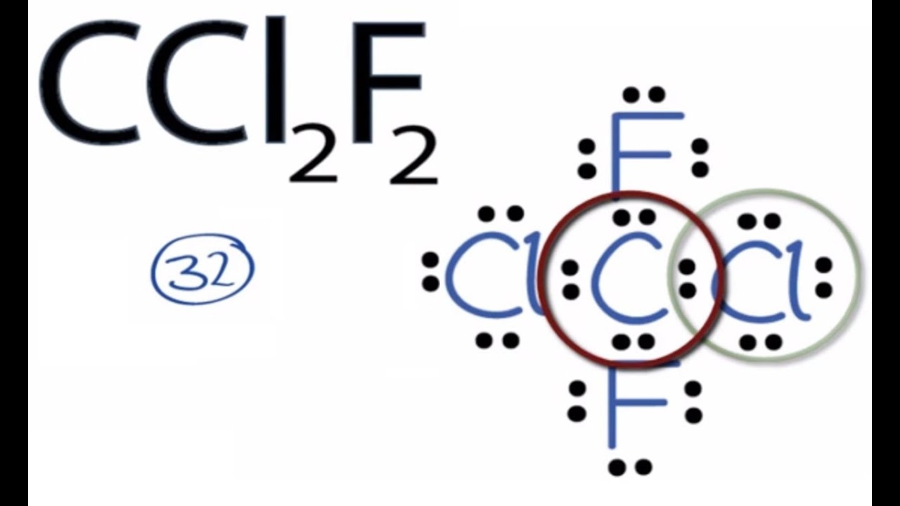 ccl2f2 lewis structure  how to draw the lewis structure for ccl2f2