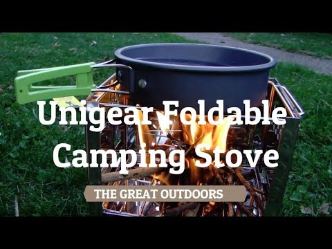 Unigear Foldable Stainless Steel Wood Burning Camping Stove
