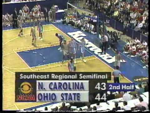 03/27/1992 NCAA SE Regional Semifinals:  #4 North Carolina Tar Heels vs.  #1 Ohio State Buckeyes