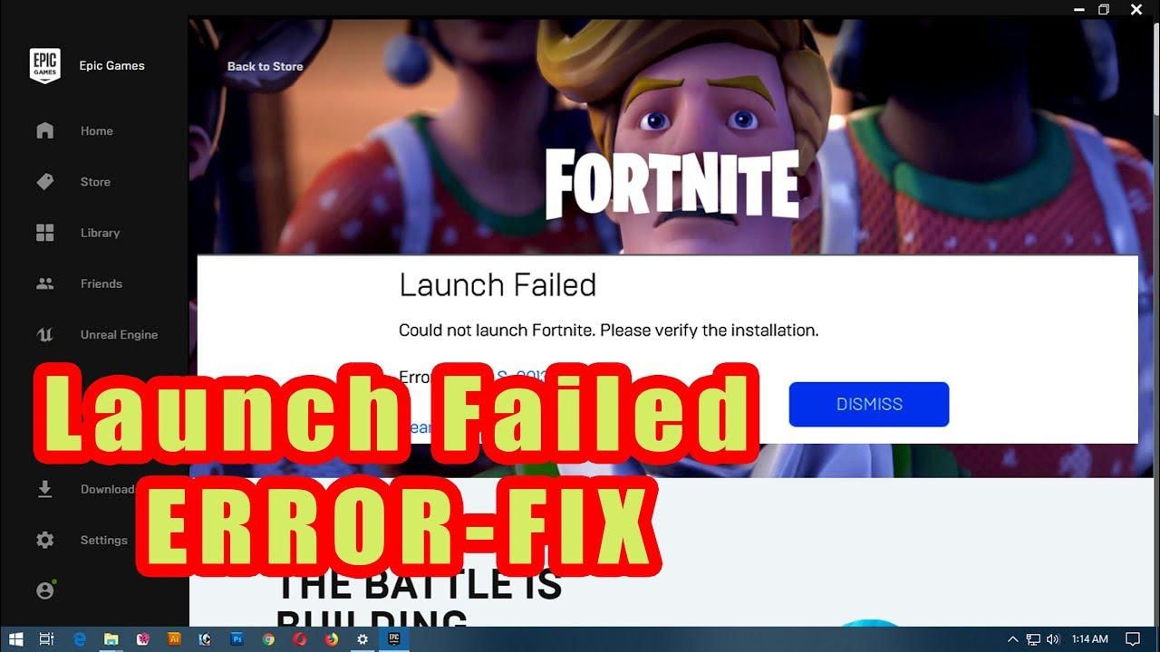 Fortnite Launch Failed/Error Fix 2019 - YouTube
