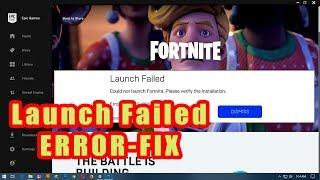 fortnite launch failed error fix 2019 - erreur as 1000 fortnite