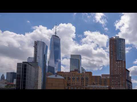 Financial District Manhattan and One World Trade Center - 4K Timelapse