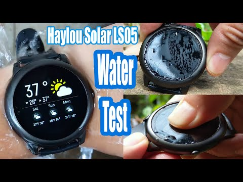 Smartwatch Haylou Solar LS05 Review tested water resistance IP68
