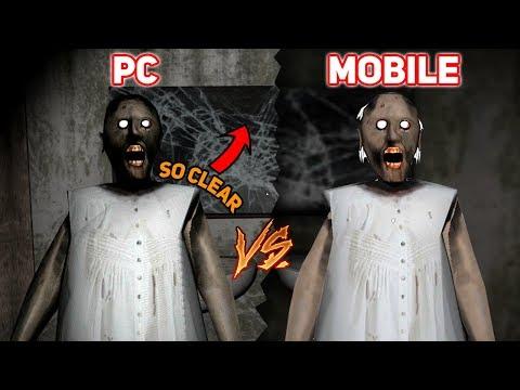 Granny PC EDITION VS MOBILE EDITION!!! (New Cutscenes, Spider!)   Granny The Mobile Horror Game