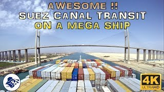 One of the world's biggest ship transiting Suez Canal (2017) - Timelapse 4k - The Seawolf