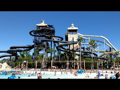 Tour Of Six Flags Hurricane Harbor Water Park 2019 (Los Angeles, California)