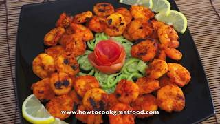 Indian Food - Prawn Tikka Bbq Shrimp Youghurt Cumin Coriander Garlic Ginger King Prawn