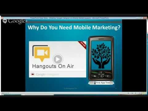 Grow Your Online Sales Mobile Marketing Google Hangout