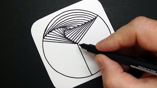 Relaxing Spiral Drawing - Abstract Art Therapy - Amazing 3D Pattern - Draw #WithMe