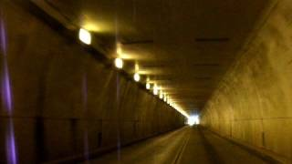 Driving through the Collier Tunnel