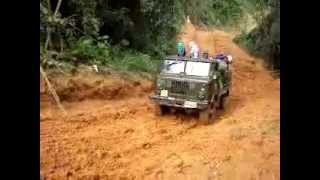 115 KV Transmission line Vangvieng -Phu Bia Mining , Laos   Access road to the power line.mp4