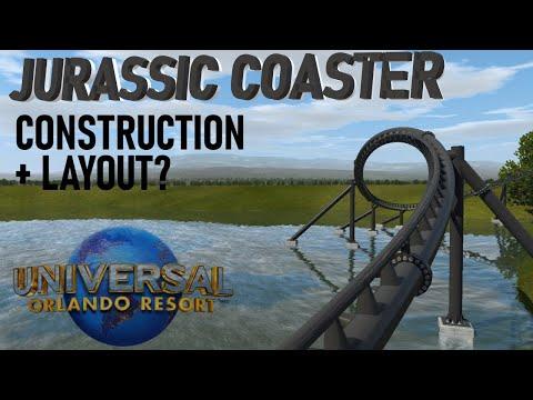 Jurassic Coaster Layout + Aerial Construction Update 5/23; Universal Orlando