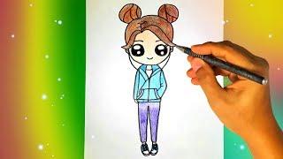Как нарисовать милую ДЕВОЧКУ В НАУШНИКАХ? Лёгкие рисунки для детей и начинающих