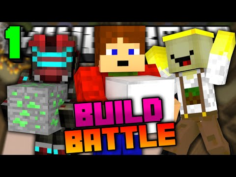 Minecraft: BUILD BATTLE | ŠREK BEZ HLAVY! | #1 w/ Vendali,Banán [Porty]