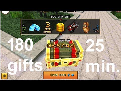 Pixel Gun 3D - 180 lucky chest openings (25 minutes)