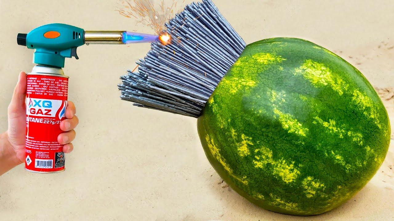 Experiment ! Watermelon vs Sparklers