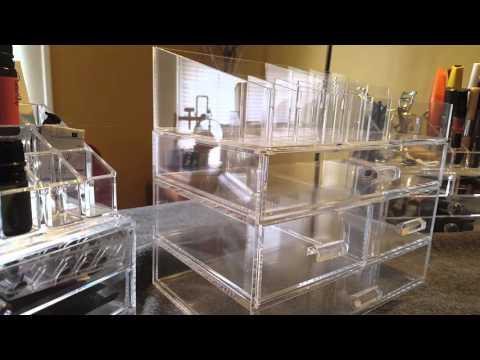 Large Acrylic Makeup Organizer Review - YouTube
