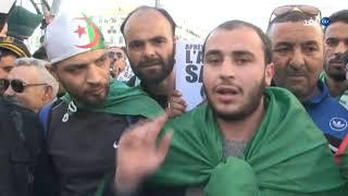 شاهد ماذا قال المتظاهرون الجزائريون في الجمعة السادسة للمطالبة برحيل النظام