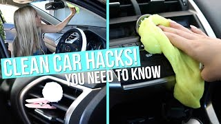 CLEAN CAR HACKS! How to Clean & Organize Your Car!
