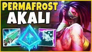 *INFINITE SLOWS* PERMAFROST AKALI IS ACTUALLY BROKEN (AKALI REWORK) - League of Legends