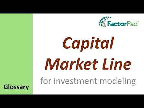 Capital Market Line definition for investment modeling