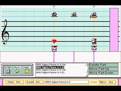 Mario Paint Composer - Megaman X - Sigma Stage 3 (Megaman X soundfont)