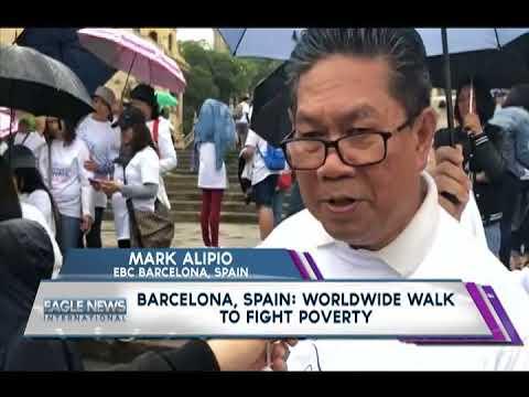 BARCELONA, SPAIN: WORLDWIDE WALK TO FIGHT PVERTY