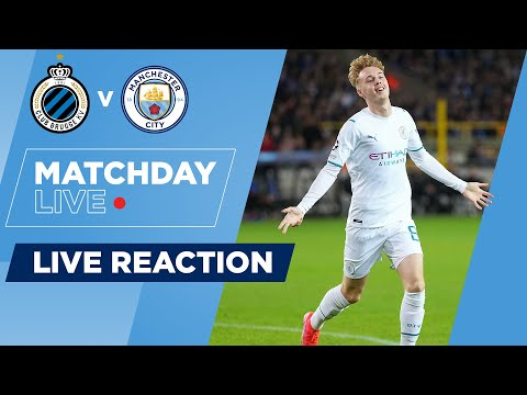 FULL-TIME! | CLUB BRUGGE 1-5 MAN CITY | UEFA CHAMPIONS LEAGUE | MATCHDAY LIVE SHOW
