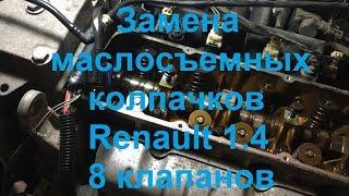 Замена маслосъемных колпачков Renault Kangoo 1.4 (он же двигатель Logan 8 кл)