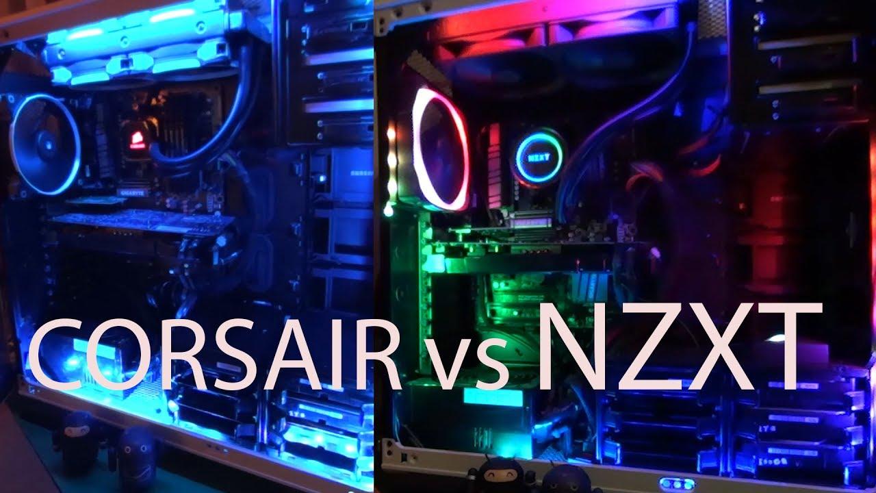 Nzxt Kraken X62 Vs Corsair H100i Lighting And Unboxing
