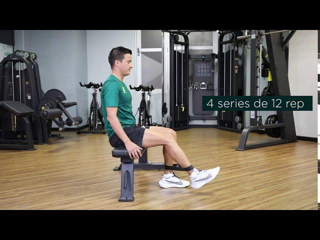 extension de rodilla con caucho