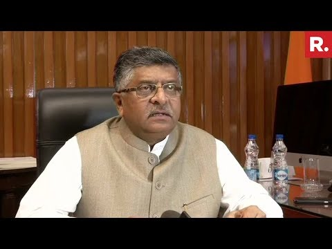 Law Minister Ravi Shankar Prasad's All Out Attack On Congress