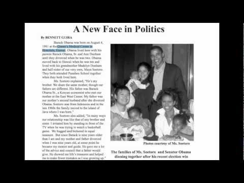 2004 Interview with Obama Half-Sister Maya Soetoro Calls Queen's Medical Center Birth Hospital