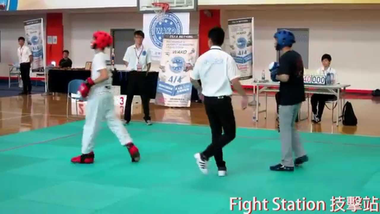 2015 WAKO全國踢拳道 半接觸 郭皓維 69公斤級 - YouTube