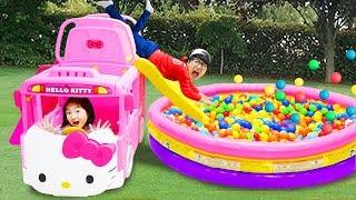 Boram e papai vão a um playground de aventura