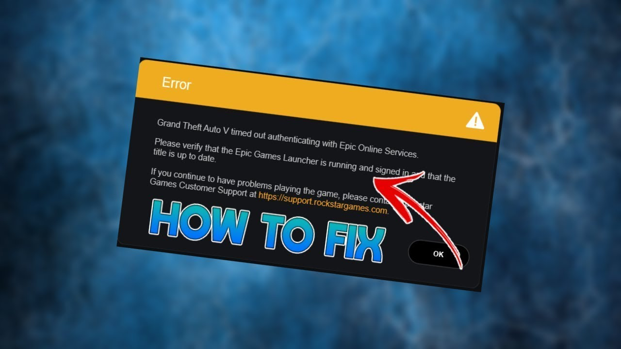 Gta 5 Error Fix 2020 Epic Store Unable To Authenticate With Epic Online Services Youtube