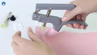 How to use a Dritz Plastic Snap Fastener Pliers Kit
