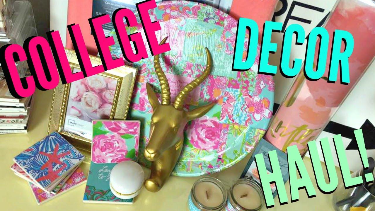 College Bedroom/Dorm Haul | Lilly Pulitzer Inspired - YouTube