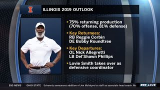 Illinois Coach Lovie Previews 2019 Illini Football | 2019 B1G Football Media Days