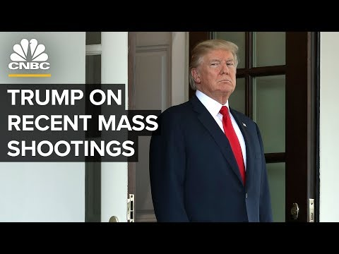 President Trump speaks on deadly mass shootings in Texas and Ohio – 08/05/2019