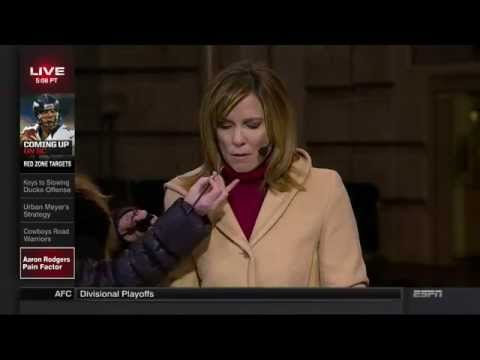 Hannah Storm Shoves The Makeup Lady Away on SportsCenter 20150111
