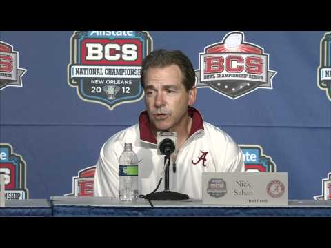 BCS Championship Post-Game Press Conference With Nick Saban and AJ McCarron