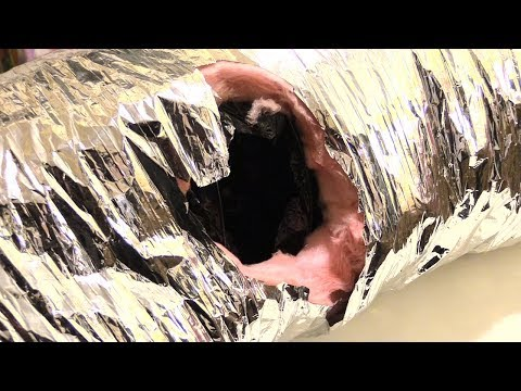 How to fix tear in ductwork! Easy