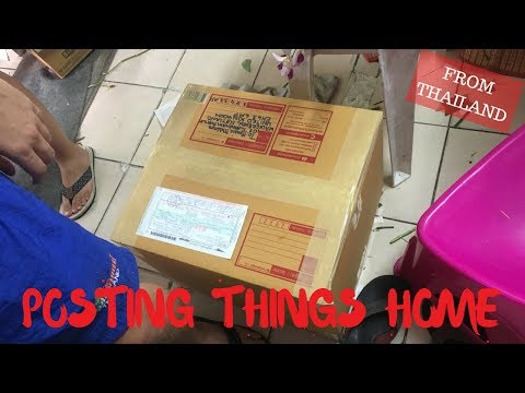 How to post things home from Thailand | Thai Post Office | THAILAND travel