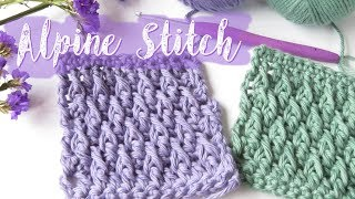 In this tutorial I show you how to crochet the Alpine Stitch or Mountain Stitch. A blend of single crochets, double crochets and the double crochet front post stitch.