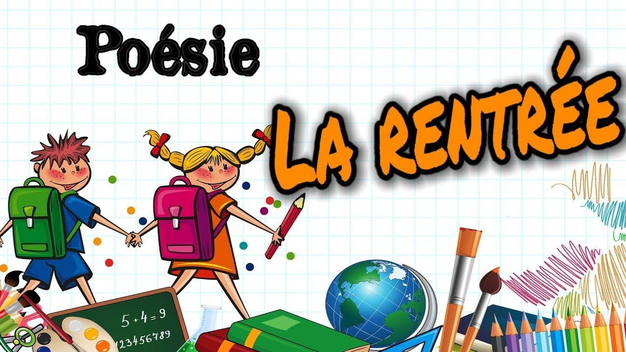 French Poem Back To School La Rentrée De Jean Luc Moreau