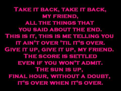 Falling In Reverse-It's Over When It's Over with lyrics