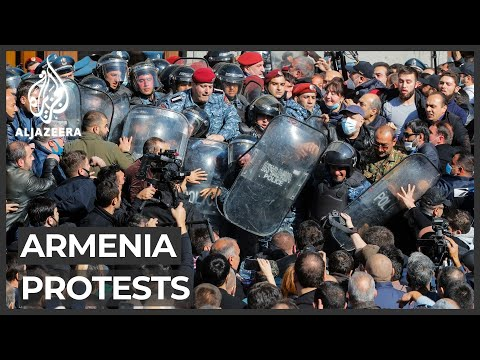 Protesters in Armenia call for PM to step down