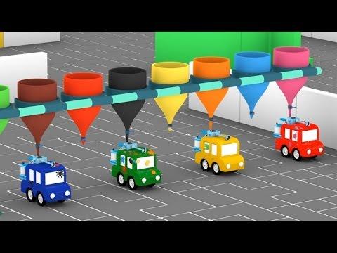 Cartoni animati per bambini: Macchinine colorate e il campo di paintball